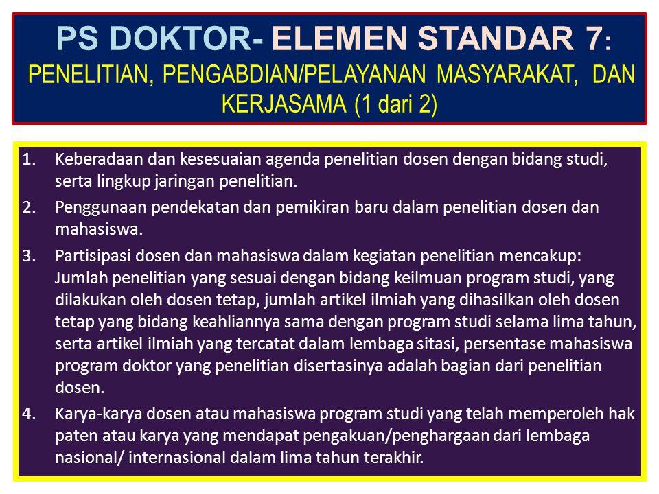 PS DOKTOR- ELEMEN STANDAR 6: PEMBIAYAAN, SARANA DAN PRASARANA, SERTA SISTEM INFORMASI (3 dari 3) 8.Sistem informasi dan fasilitas yang digunakan unit