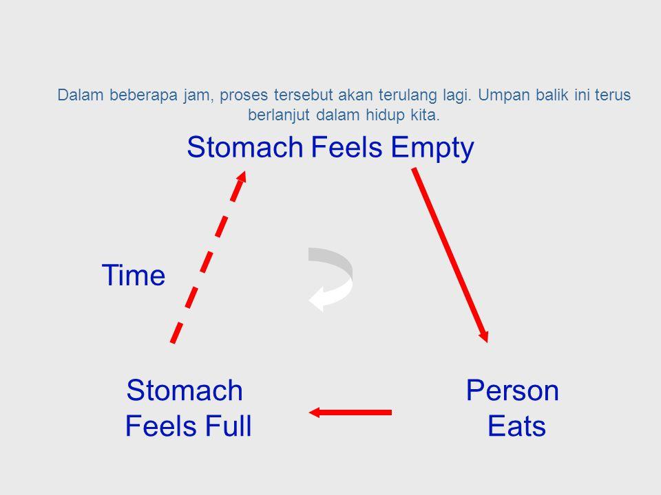 Ketika anda melakukan hal untuk mengkoreksinya, yaitu dengan makan, otak anda akan diberitahu kalau anda sudah kenyang.