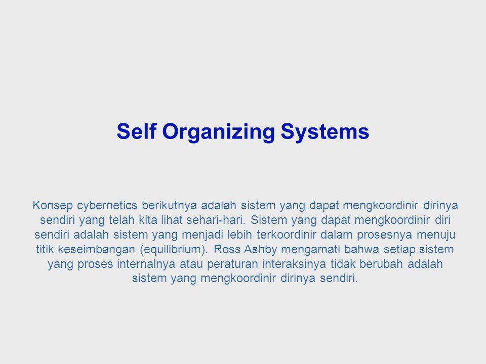 Dalam hal ini, kesesuaian antara variasi pengontrol and variasi dalam sistem yang dikontrol tercapai tidak dengan meningkatkan kompleksitas pengontrol, tetapi dengan mengurangi variasi dalam sistem yang dikontrol.