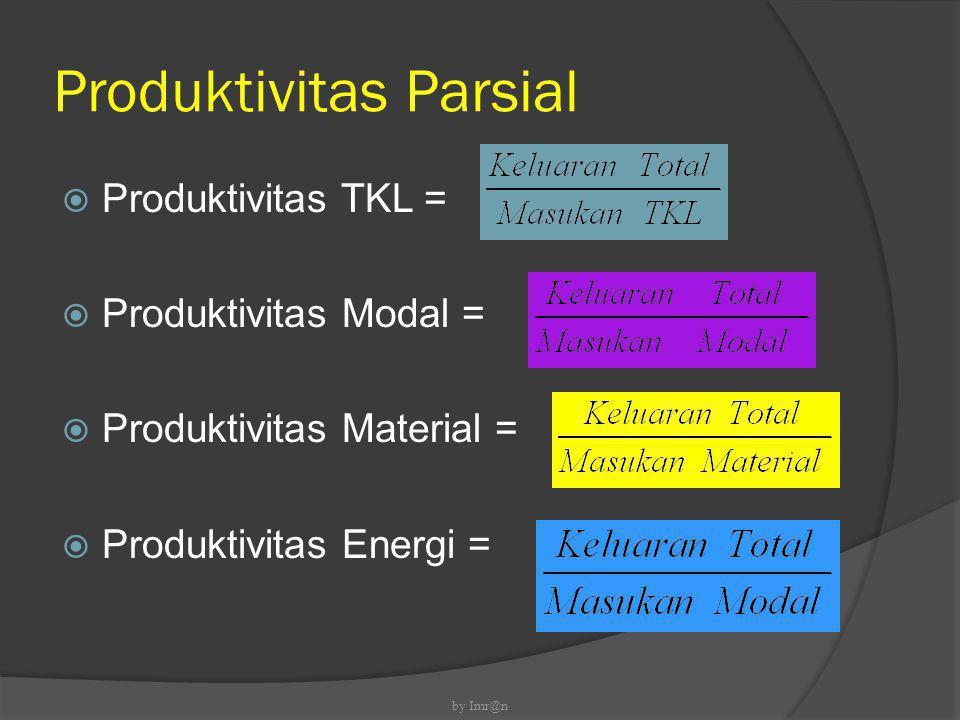 Produktivitas Multifaktor  Produktivitas TKL+Modal =  Prod.