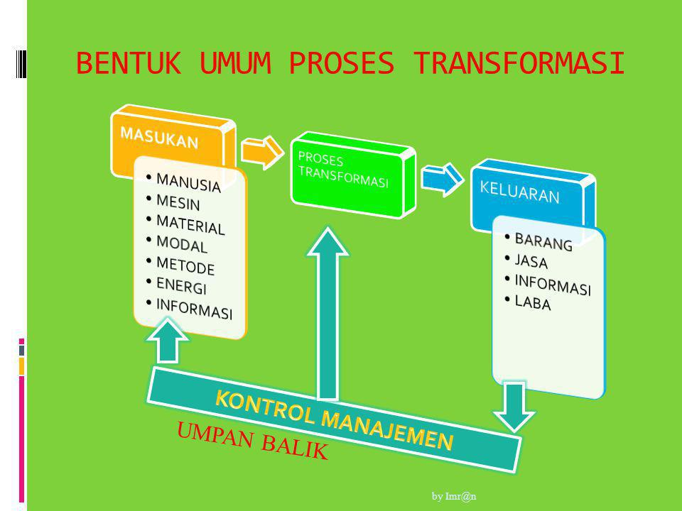 BENTUK UMUM PROSES TRANSFORMASI UMPAN BALIK by Imr@n