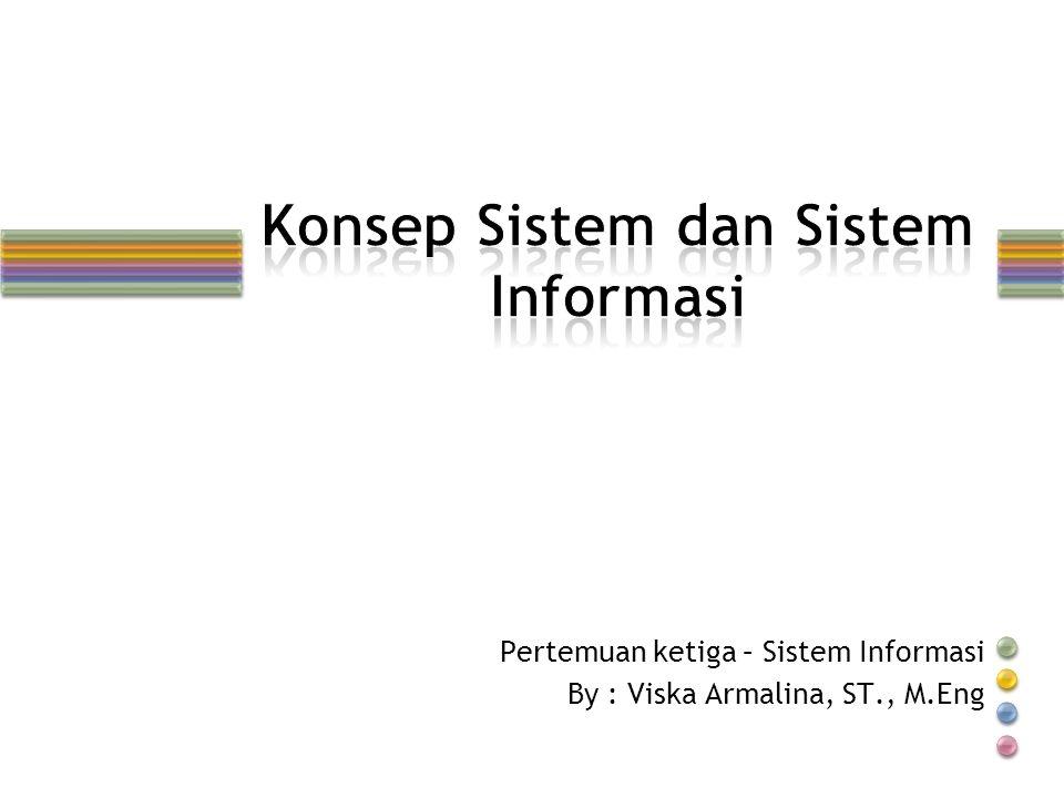 Pertemuan ketiga – Sistem Informasi By : Viska Armalina, ST., M.Eng