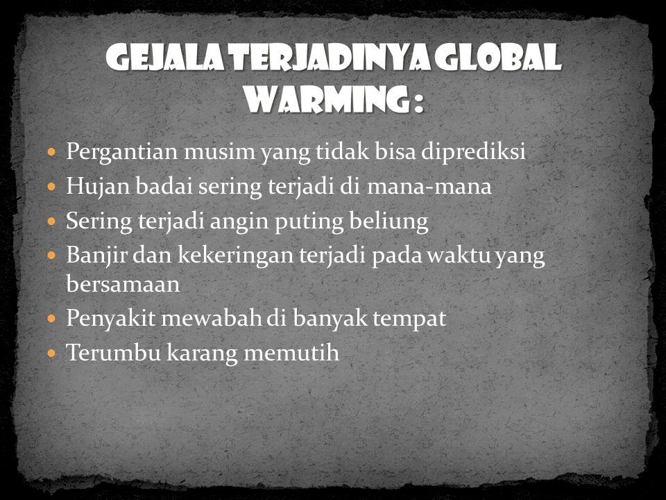 CARA MENGURANGI DAMPAK PEMANASAN GLOBAL 1.