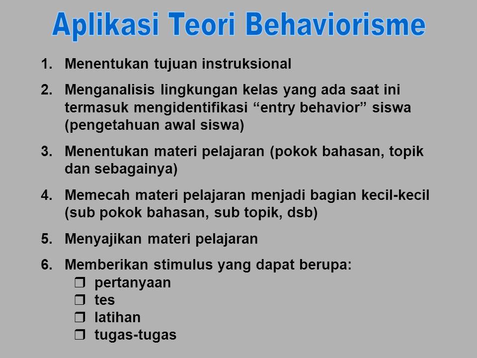 """1.Menentukan tujuan instruksional 2.Menganalisis lingkungan kelas yang ada saat ini termasuk mengidentifikasi """"entry behavior"""" siswa (pengetahuan awal"""