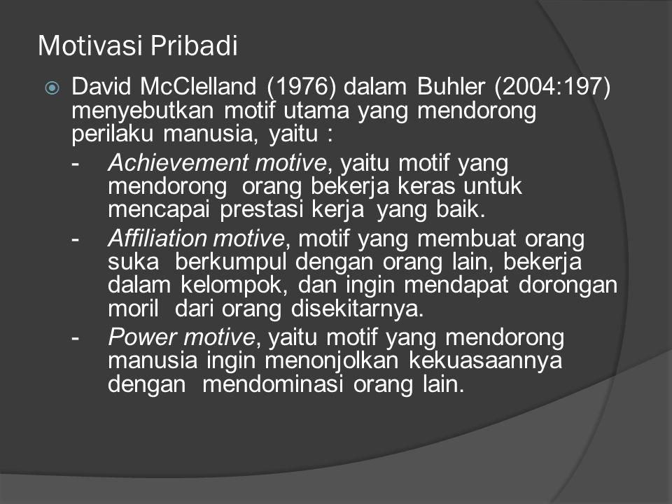 Tanda Demotivasi  Tanda-tanda dari rendahnya motivasi meliputi : -apatis -ketidak-acuhan -kurang rasa tanggung jawab terhadap masalah -kinerja yang buruk, pemanfaatan waktu yang buruk -tingkah laku yang tidak dapat diajak bekerjasama -tidak ada keinginan untuk berubah