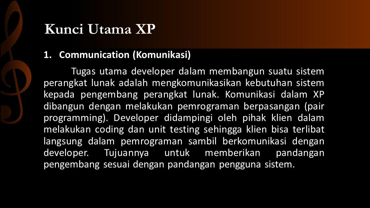 1.Communication (Komunikasi) Tugas utama developer dalam membangun suatu sistem perangkat lunak adalah mengkomunikasikan kebutuhan sistem kepada pengembang perangkat lunak.