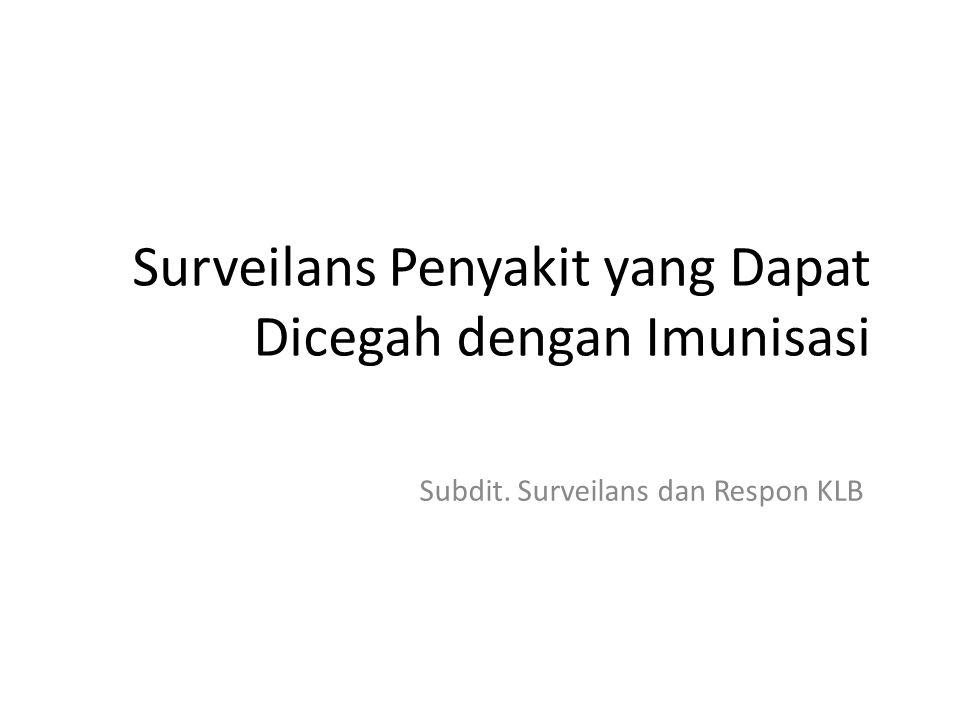 Surveilans Penyakit yang Dapat Dicegah dengan Imunisasi Subdit. Surveilans dan Respon KLB
