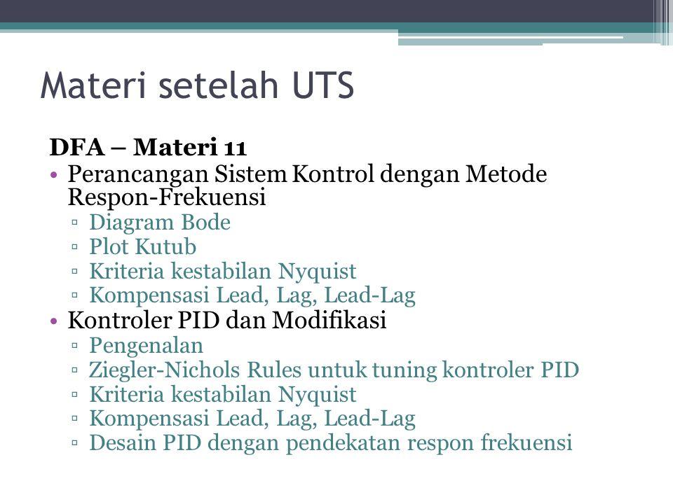 Materi setelah UTS YHD – Materi 12, 13, 14 •Pemodelan dengan menggunakan data kuantitatif Neural Network •Teorema Fuzzy •Kontrol Fuzzy