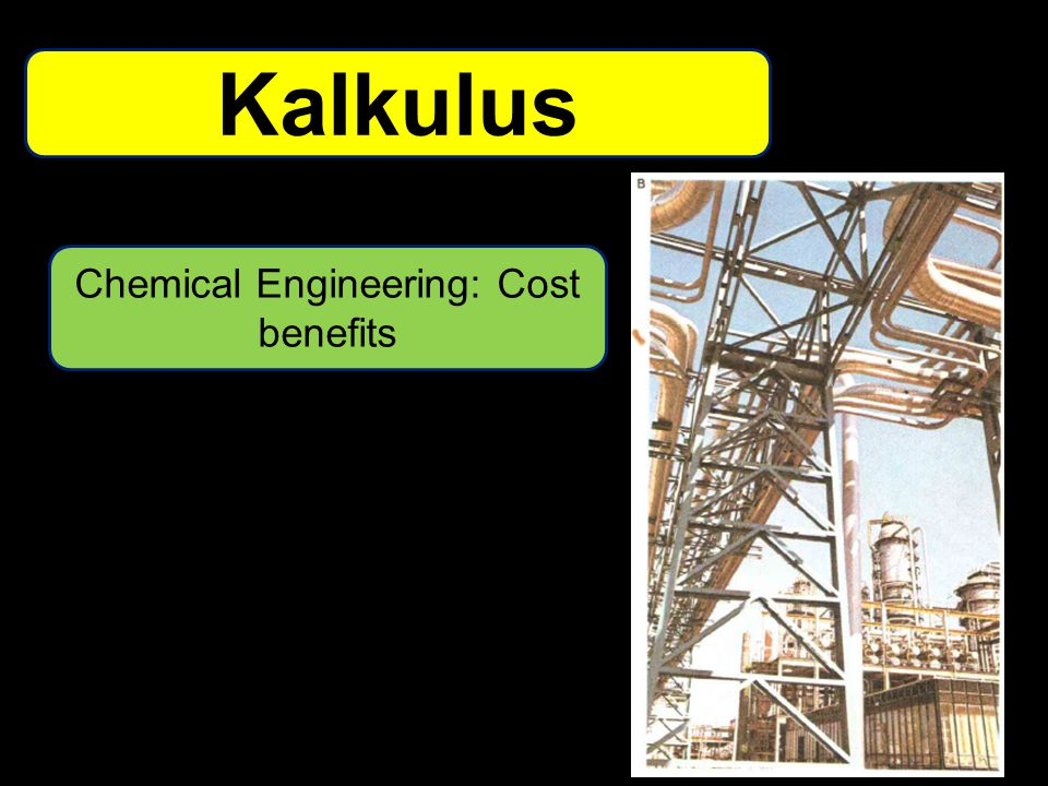 Chemical Engineering: Cost benefits Kalkulus