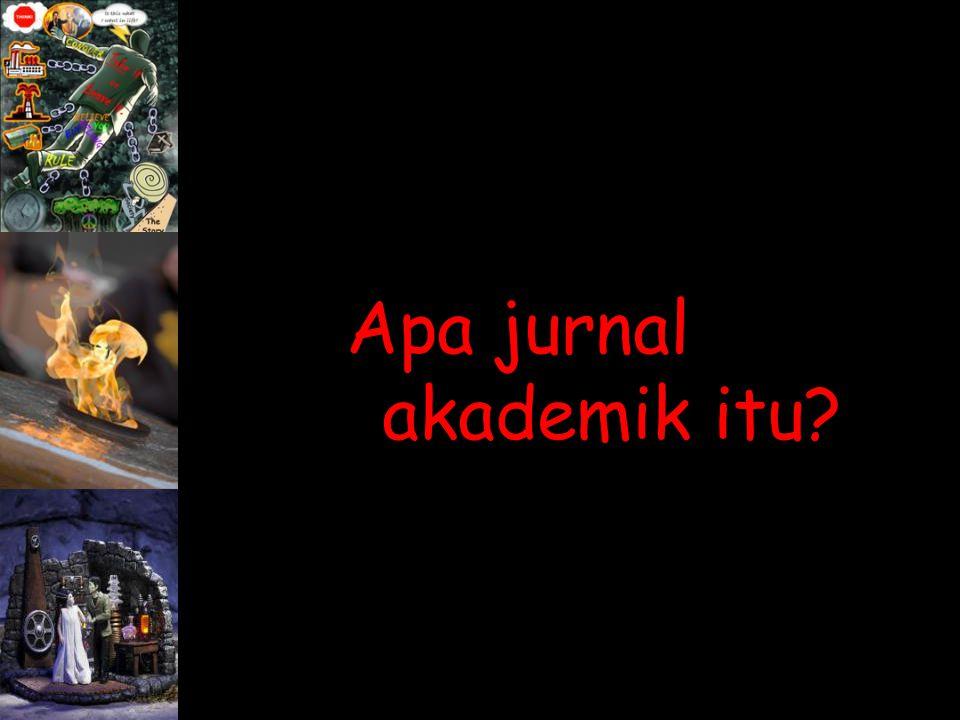 Apa jurnal akademik itu