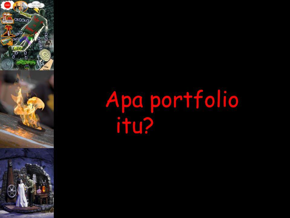 Apa portfolio itu