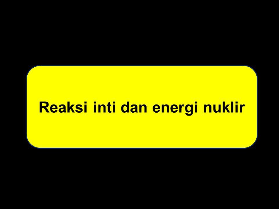 Reaksi inti dan energi nuklir