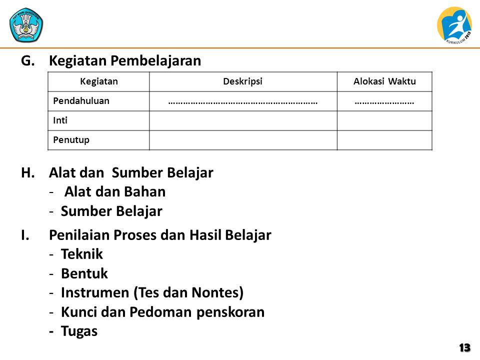 C.C. Indikator Pencapaian Kompetensi B. Indonesia -.................................. --................................ D. Tujuan pembelajaran E.E. M