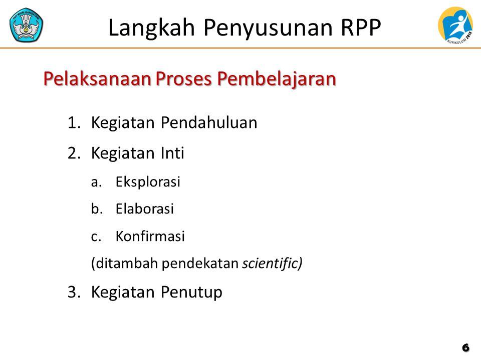 Prinsip Penyusunan RPP 1.Memperhatikan perbedaan individu peserta didik. 2.Mendorong partisipasi aktif peserta didik. 3.Mengembangkan budaya membaca d