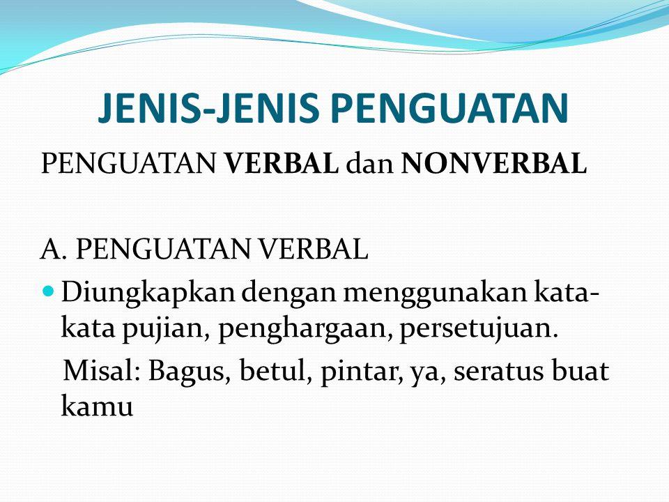 B.PENGUATAN NONVERBAL 1.