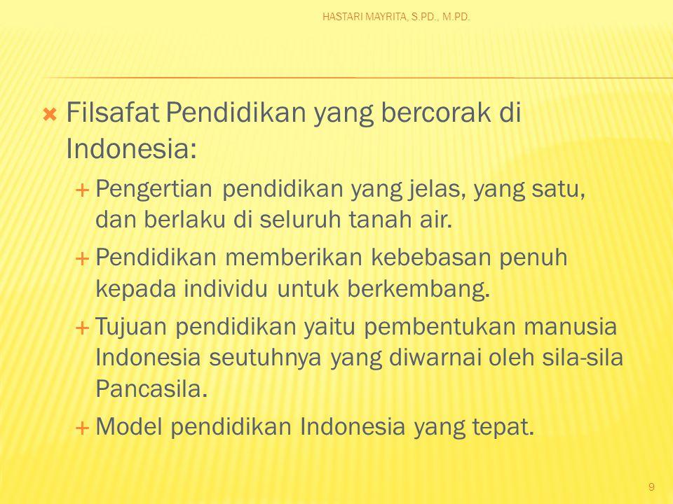  Filsafat umum atau filsafat negara Indonesia adalah pancasila 8 HASTARI MAYRITA, S.PD., M.PD.