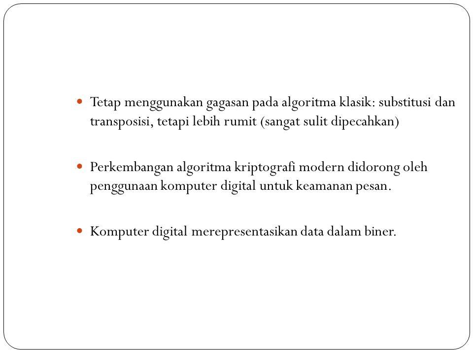  Algoritma enkripsi XOR sederhana pada prinsipnya sama seperti Vigenere cipher dengan penggunaan kunci yang berulang secara periodik.