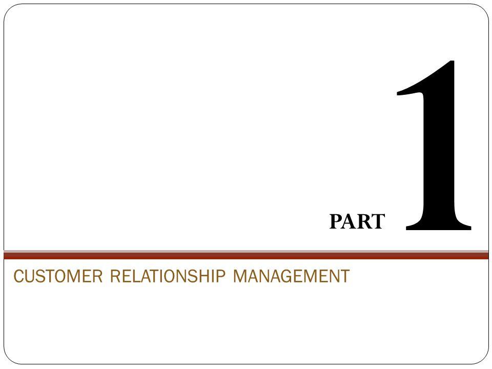 CUSTOMER RELATIONSHIP MANAGEMENT PART 1