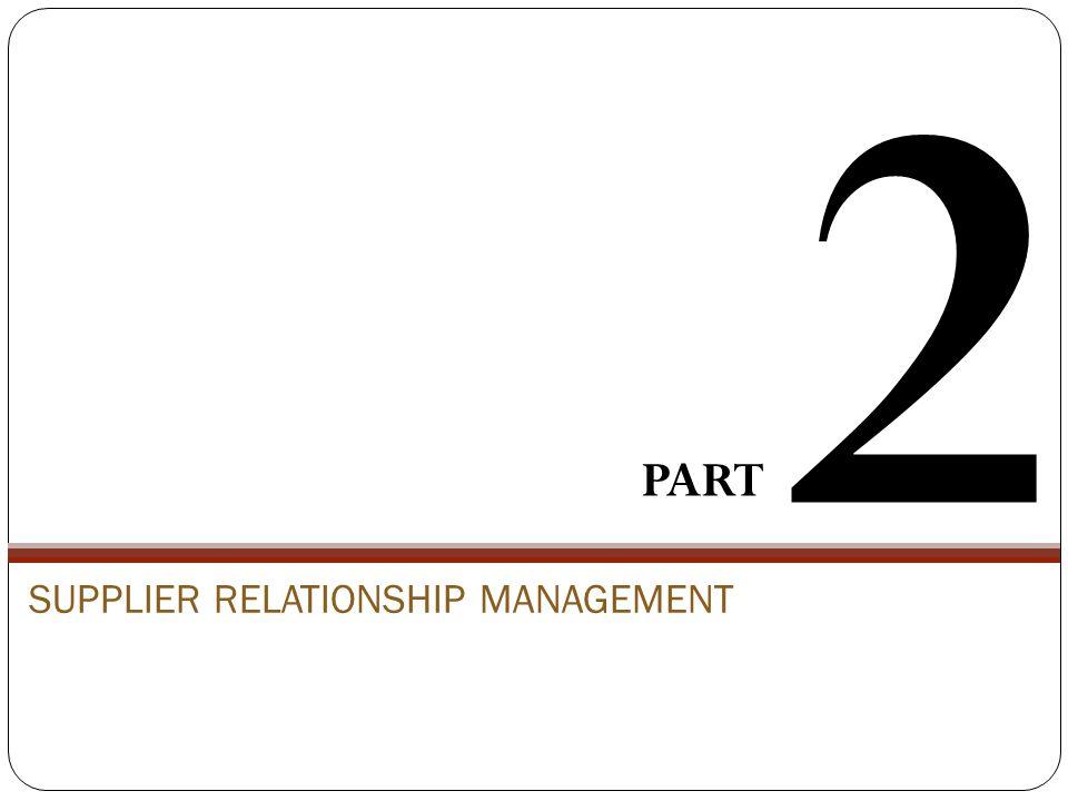 SUPPLIER RELATIONSHIP MANAGEMENT PART 2