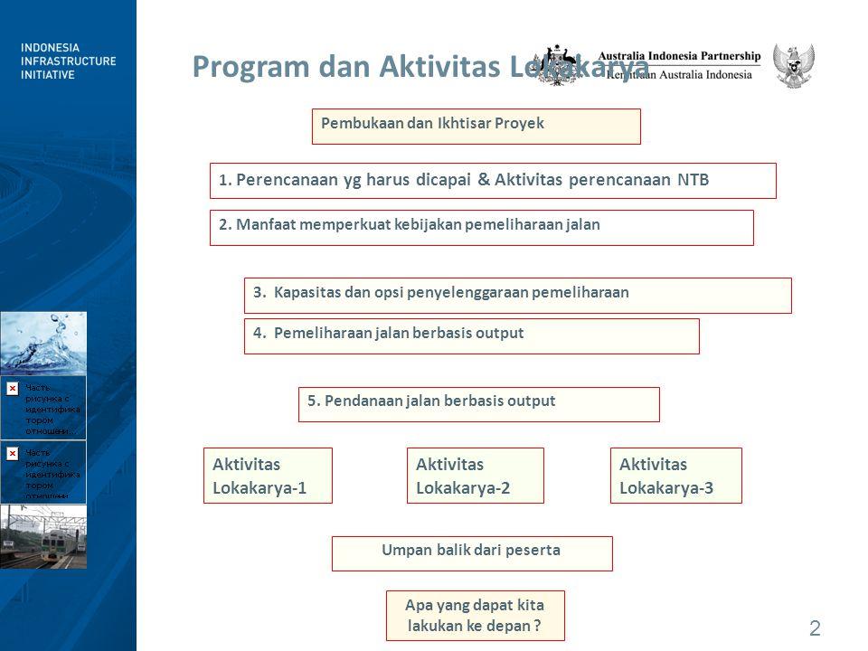 2 Program dan Aktivitas Lokakarya Pembukaan dan Ikhtisar Proyek 2.
