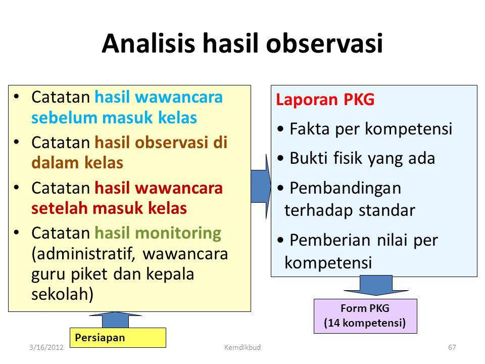 C. Hasil Penilaian Kinerja Guru • Deskripsi fakta (data/informasi) yang dihasilkan dari aktivitas: – melihat, – mendengar, dan – Membaca • Bukan yang