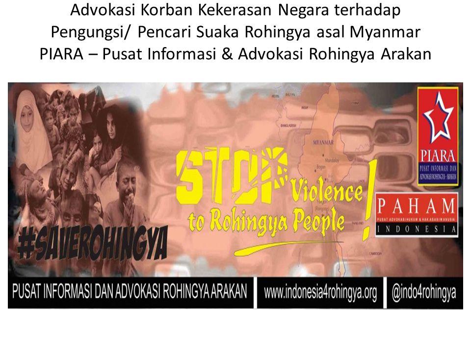 Advokasi Korban Kekerasan Negara terhadap Pengungsi/ Pencari Suaka Rohingya asal Myanmar PIARA – Pusat Informasi & Advokasi Rohingya Arakan