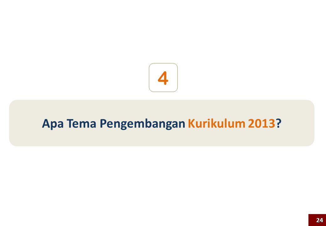 Apa Tema Pengembangan Kurikulum 2013? 4 24