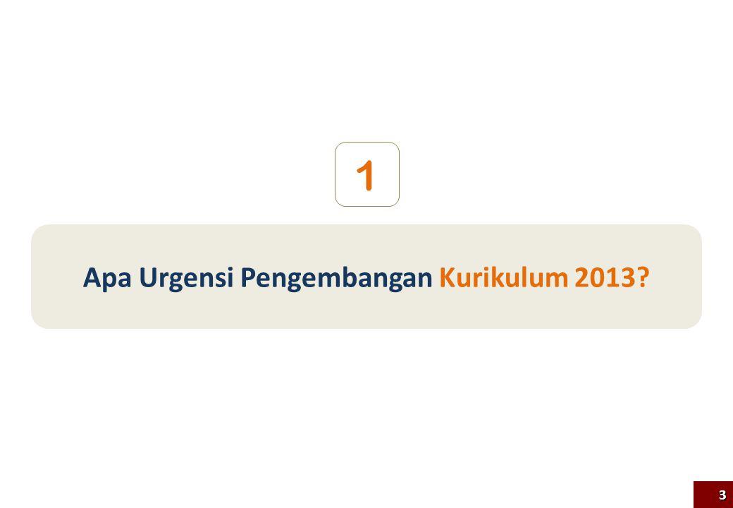 Apa Urgensi Pengembangan Kurikulum 2013? 1 3