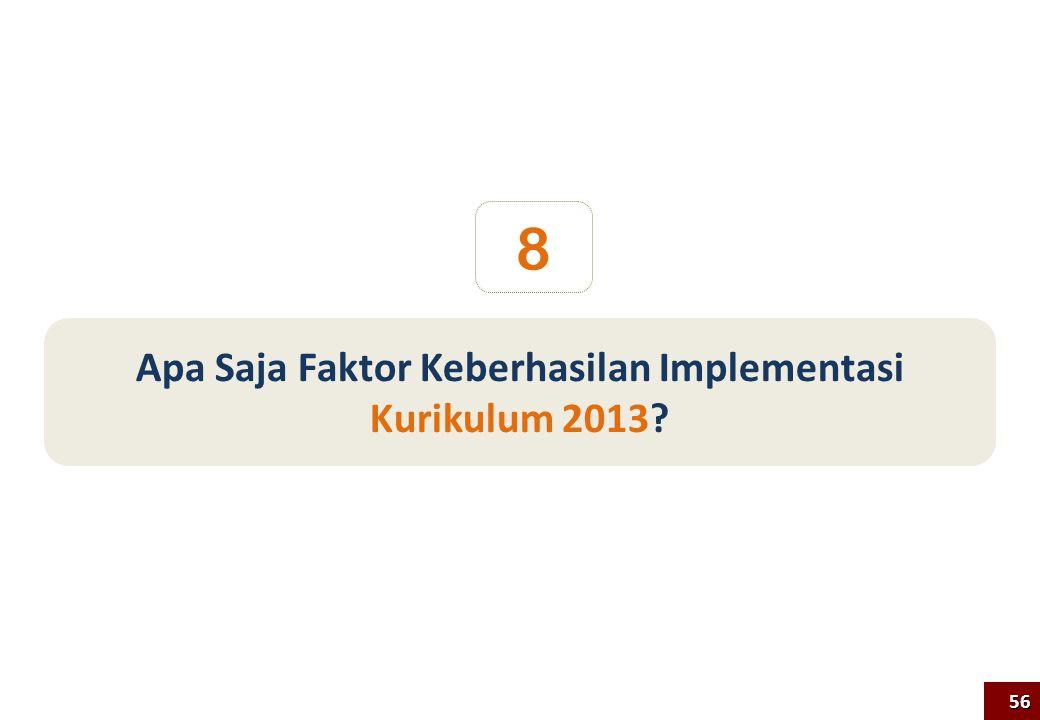 Apa Saja Faktor Keberhasilan Implementasi Kurikulum 2013? 8 56