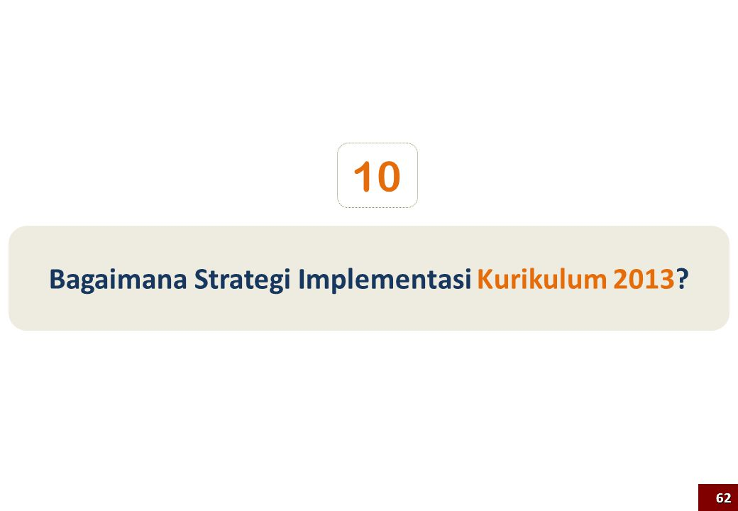 Bagaimana Strategi Implementasi Kurikulum 2013? 10 62