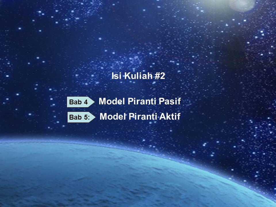 Isi Kuliah #2 Model Piranti Aktif Model Piranti Pasif Bab 4 Bab 5: