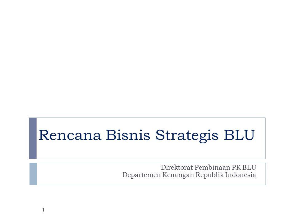 Rencana Bisnis Strategis BLU Direktorat Pembinaan PK BLU Departemen Keuangan Republik Indonesia 1