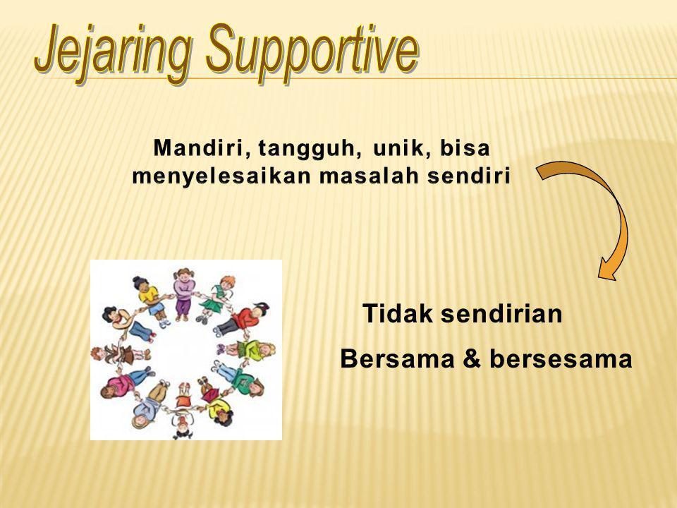 Memahami bagaimana cara membangun dan merawat jejaring supportive.
