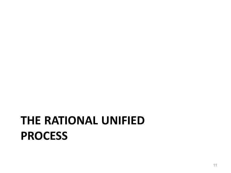 THE RATIONAL UNIFIED PROCESS 11