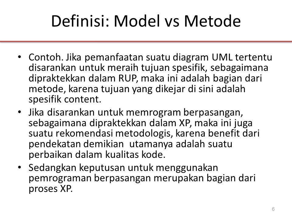 Definisi: Model vs Metode • Contoh.