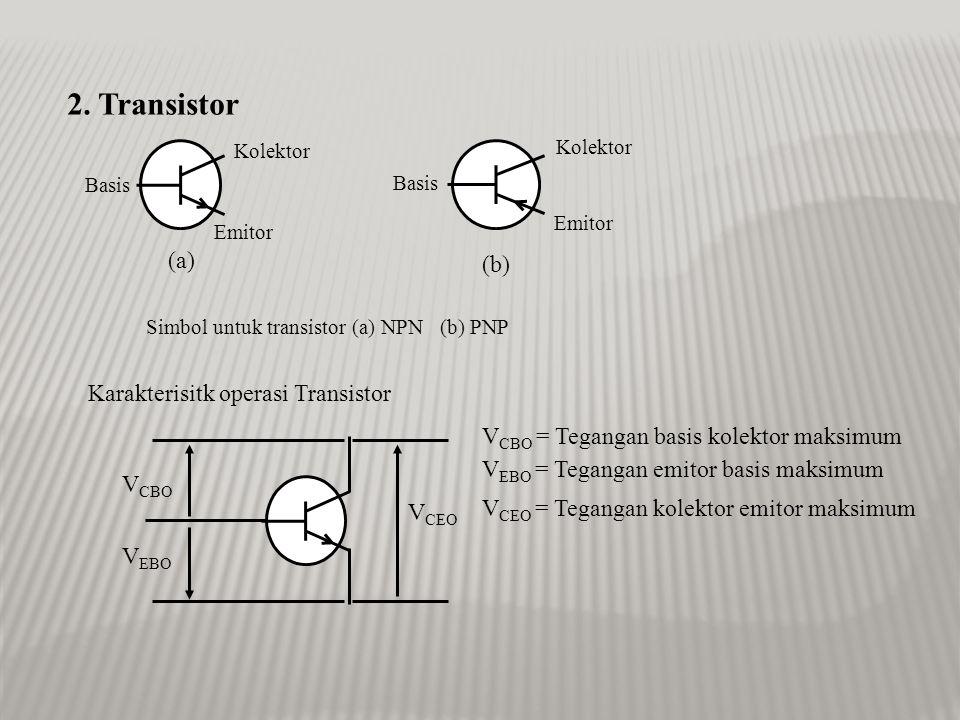 Kerusakan umum yang sering terjadi pada dioda ialah: 1.