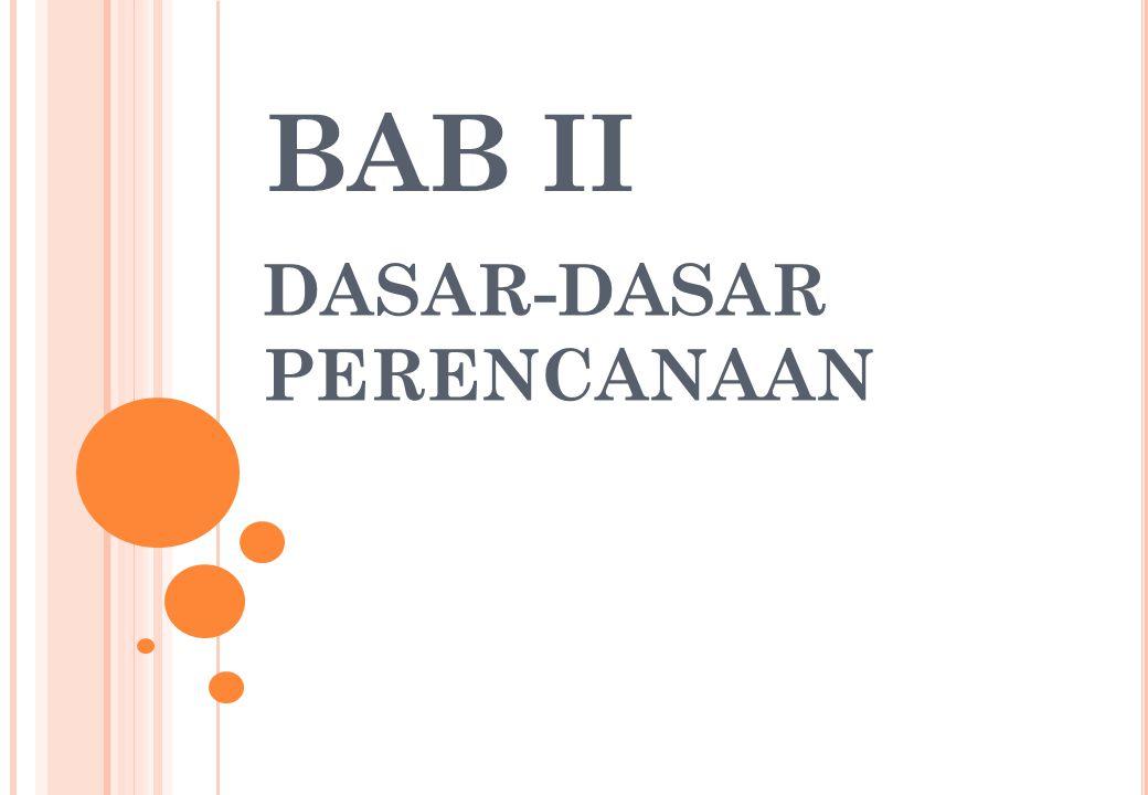 BAB II DASAR-DASAR PERENCANAAN