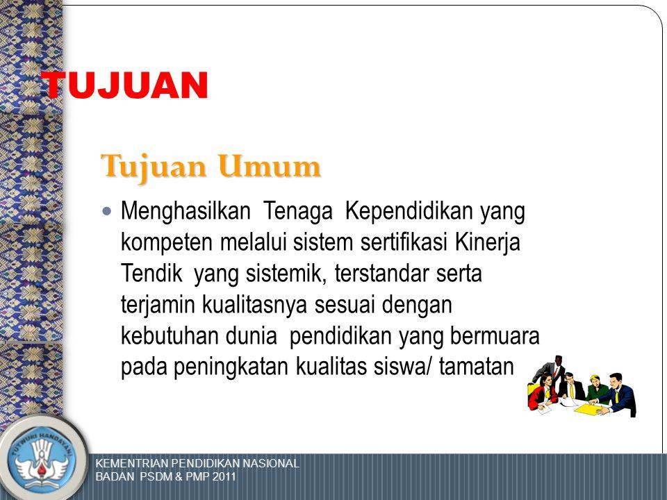 KEMENTRIAN PENDIDIKAN NASIONAL BADAN PSDM & PMP 2011 1.Dalam rangka melaksanakan Undang-Undang Nomor 20 Tahun 2003 tentang Sistem Pendidikan Nasional,