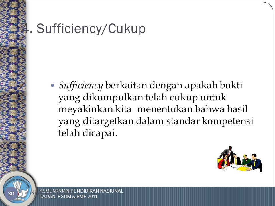 KEMENTRIAN PENDIDIKAN NASIONAL BADAN PSDM & PMP 2011 Ni Wayan Suwithi 29 3. Terkini /Terbaru  Terkini /Terbaru menunjukkan kepada waktu terakhir dibu