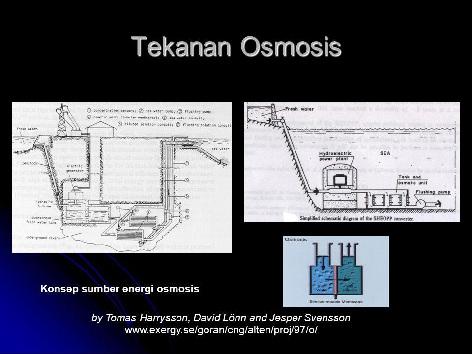 Tekanan Osmosis Konsep sumber energi osmosis by Tomas Harrysson, David Lönn and Jesper Svensson www.exergy.se/goran/cng/alten/proj/97/o/