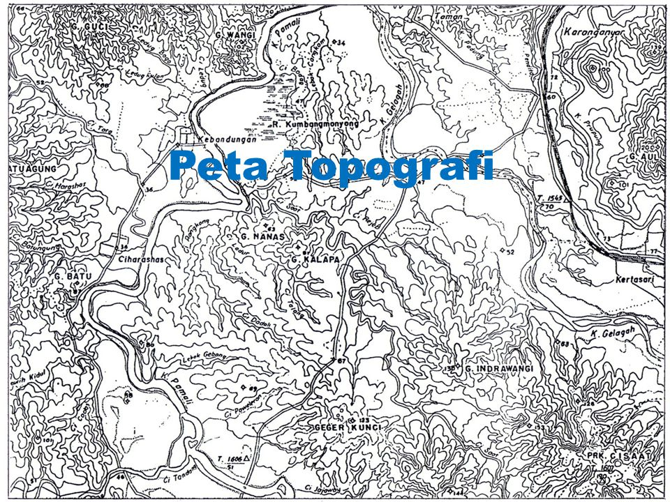 Penulisan pada lembar peta • Pada lembar peta, deklinasi dituliskan dengan magnetic declination.