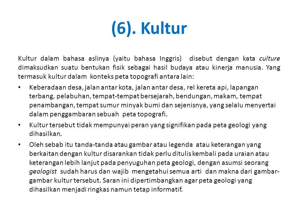 (6). Kultur Kultur dalam bahasa aslinya (yaitu bahasa Inggris) disebut dengan kata culture dimaksudkan suatu bentukan fisik sebagai hasil budaya atau