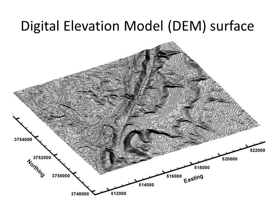 Beberapa model teknik interpretasi… • Garis kontur yang terbuka ke arah kiri dan atau ke arah kanan di pinggir pantai, mengekspresikan sebagai muara sungai yang cukup besar dengan tingkat sedimentasi cukup tinggi.