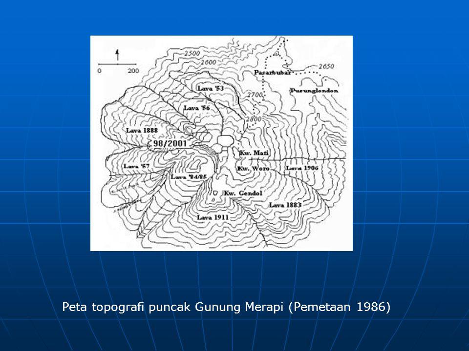 Peta topografi puncak Gunung Merapi (Pemetaan 1986)