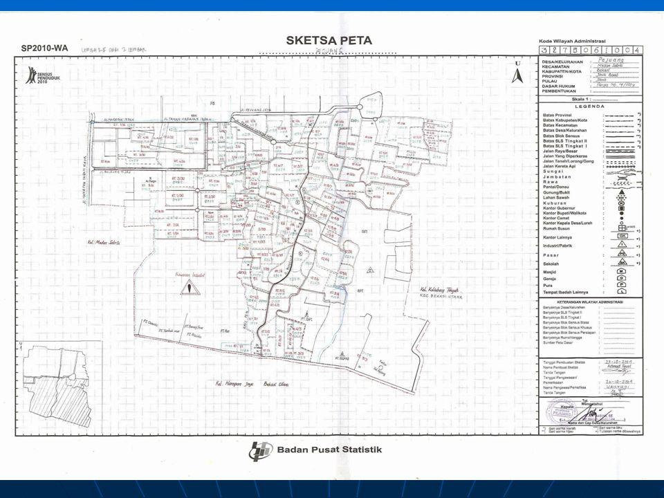 Komponen Peta (3)   Sumber/keterangan riwayat peta, meliputi penyusun peta, percetakan, sistem proyeksi peta, tanggal/tahun pengambilan data, tanggal pembuatan/pencetakan peta, dan lain sebagainya yang memperkuat identitas penyusunan peta yang dapat dipertanggungjawabkan.