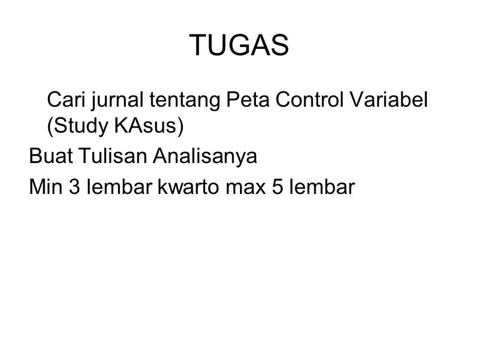 TUGAS Cari jurnal tentang Peta Control Variabel (Study KAsus) Buat Tulisan Analisanya Min 3 lembar kwarto max 5 lembar