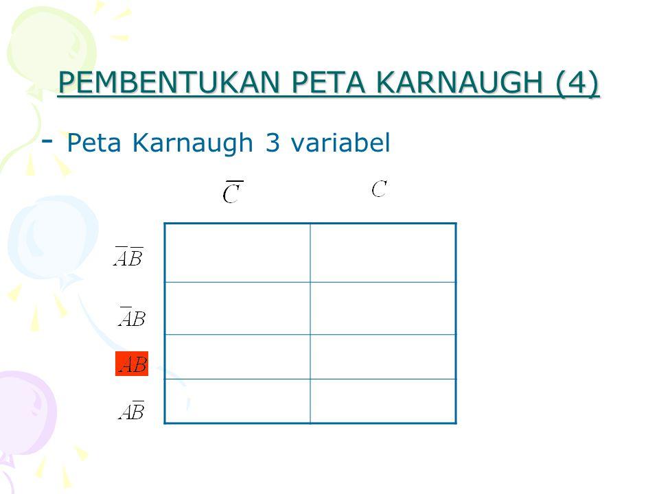 PEMBENTUKAN PETA KARNAUGH (4) - Peta Karnaugh 3 variabel