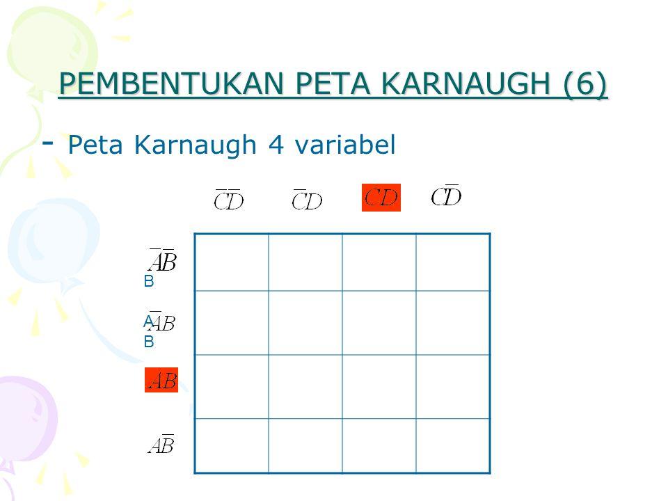 PEMBENTUKAN PETA KARNAUGH (6) - Peta Karnaugh 4 variabel BABBAB