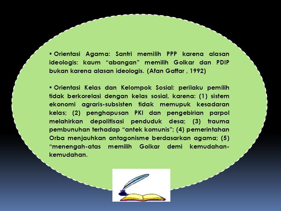 BAGAIMANA PETA PEMIKIRAN POLITIK INDONESIA SELAMA DAN PASCA ORBA ?
