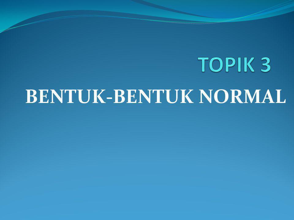 BENTUK-BENTUK NORMAL